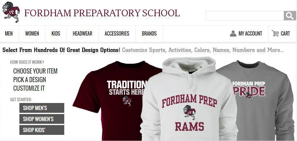 aa280f2a92b Spirit Store. Fordham Prep and LIDS Team Sports ...